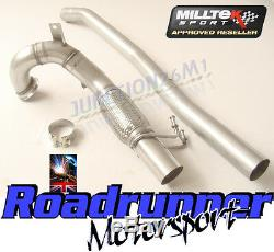 Milltek VW Golf GTI MK7 2013 on 3 Exhaust Decat Downpipe Connect Pipe SSXVW262