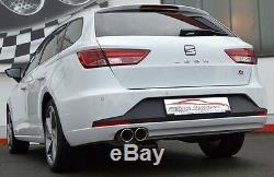 Nil 2.99in Exhaust System Seat Leon 5F st Incl Fr since 2013 2WD 2.0l Tdi 135kW